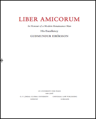 Liber Amicorum His Excellency Gudmundur Eriksson