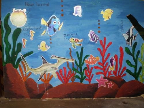 Panitia psv dsv sk parit kasan projek mural ke 4 2012 for Mural hidupan laut