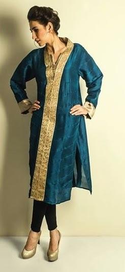 Luxury Silk Shirts Designs for Eid 2014