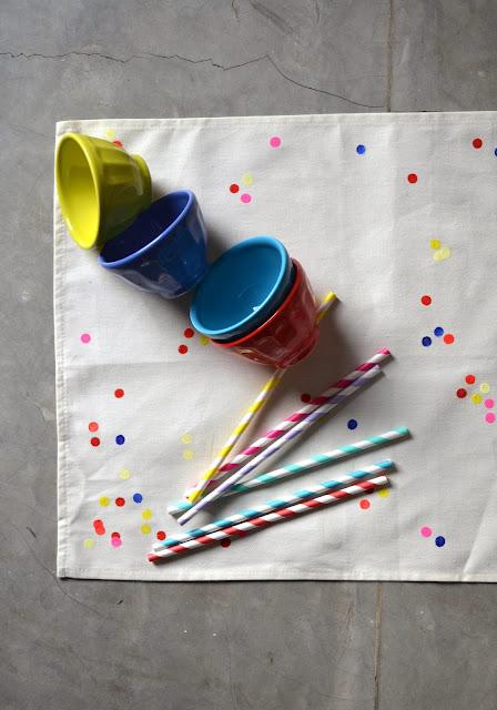 Individuales Confetti DIY