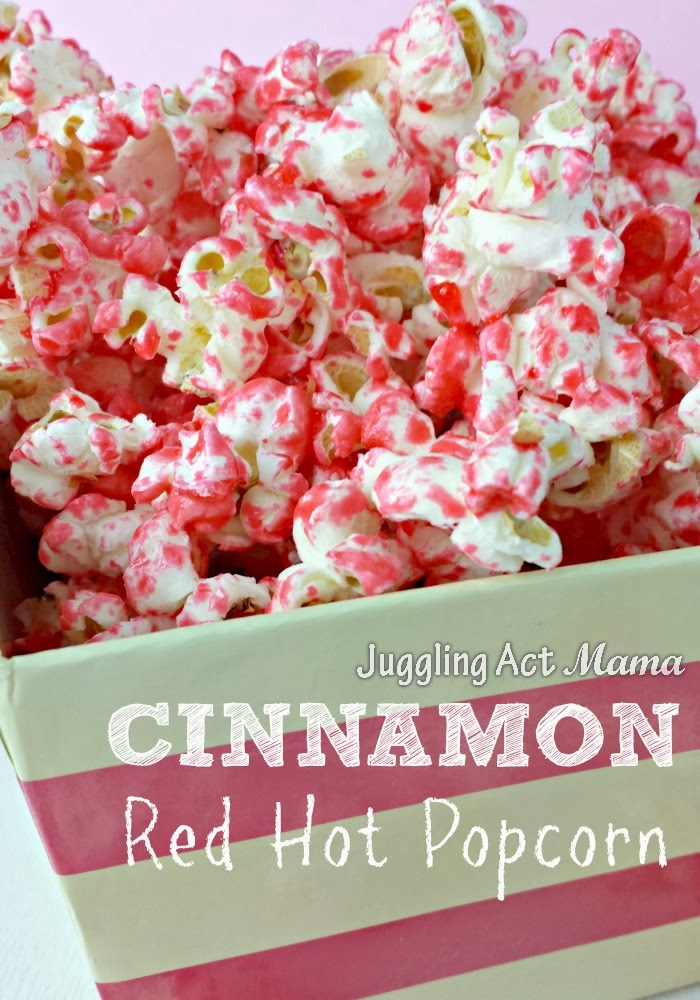 Cinnamon Red Hot Popcorn is delicious and easy to make! It's a fun treat for kids, and the kid in all of us!