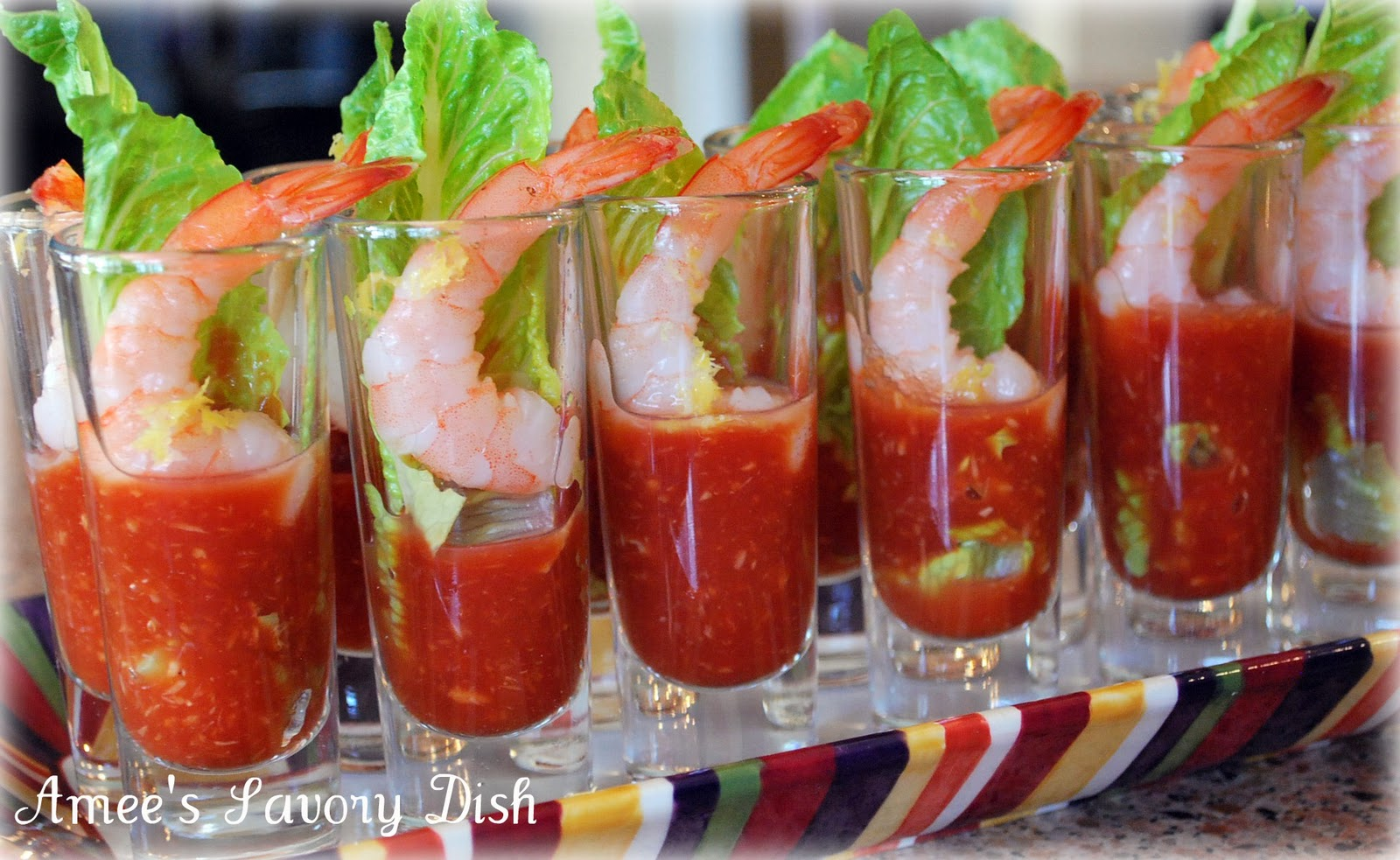 Shrimp Shooters Appetizer recipe- Amee's Savory Dish
