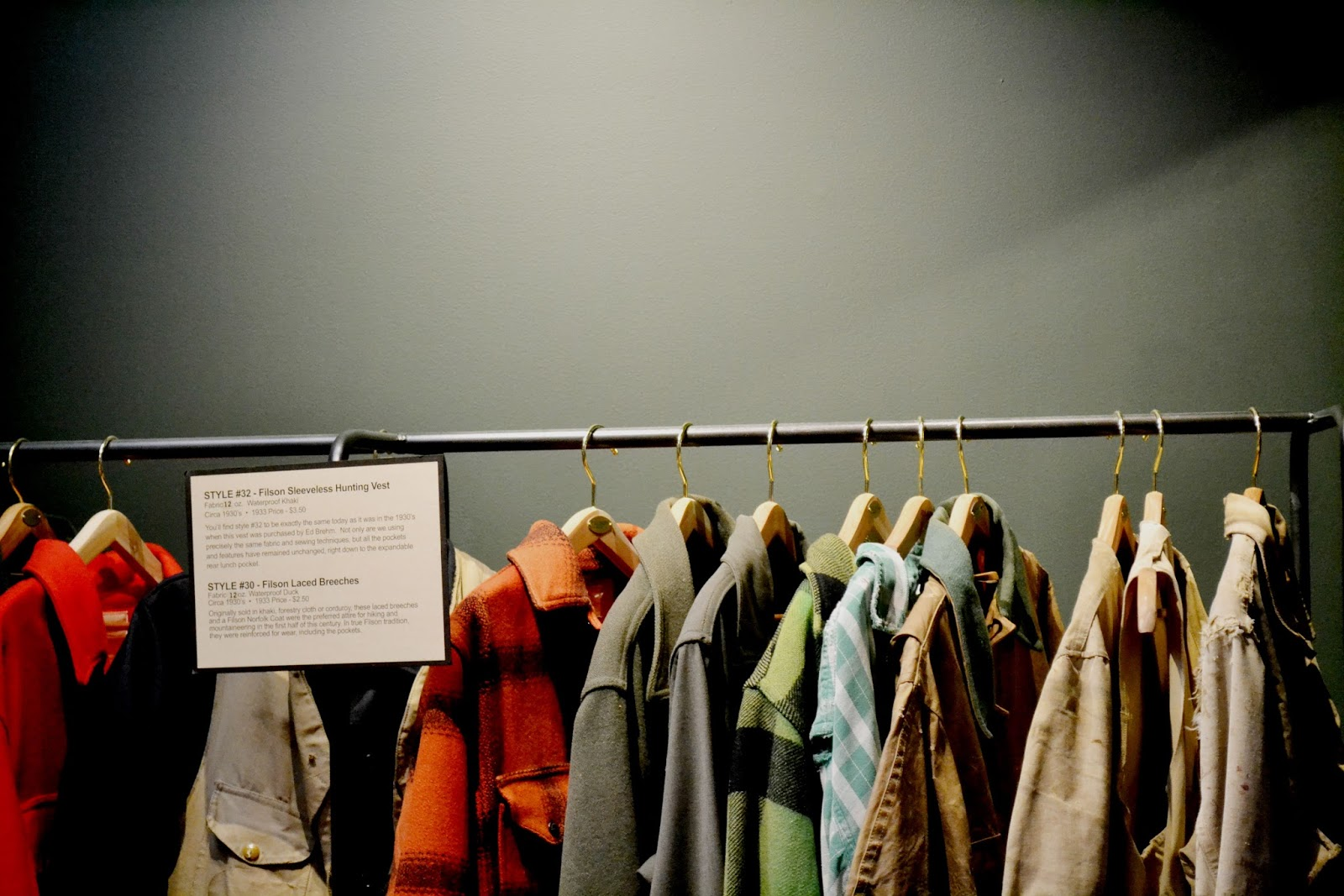vintage, filson, coats, seattle, heritage brand