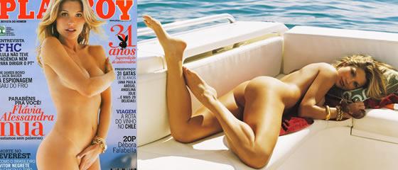 Fl Via Alessandra A Bela Tenente Rica De Salve Je Nua Na Playboy