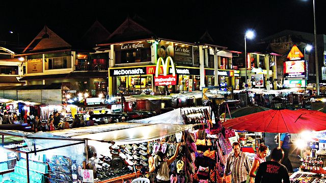 Location of Night Bazaar Inn Chiang Mai Thailand