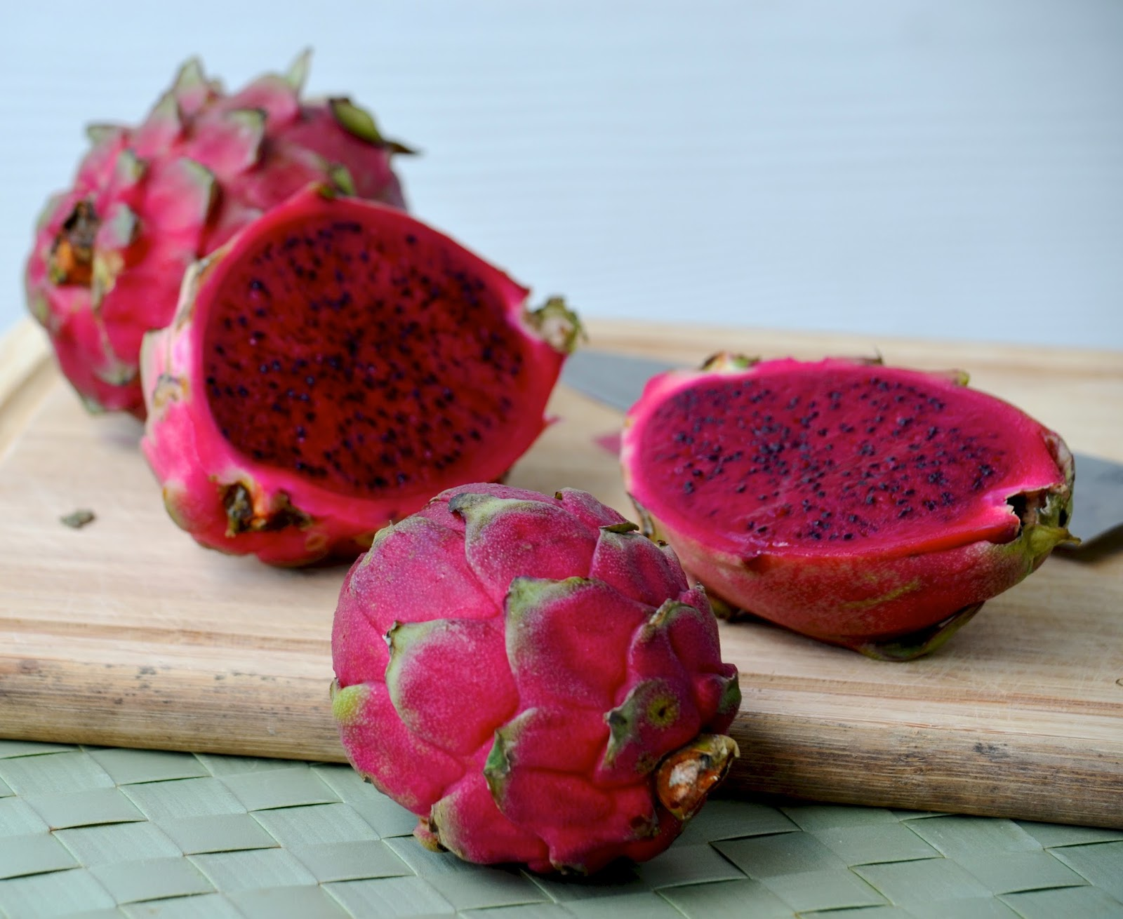 I've Seen The White Fleshed Kind, But This Magenta Color Is Just  Eyepopping More Nerdy Fun Facts: Eating Redfleshed Dragon Fruit