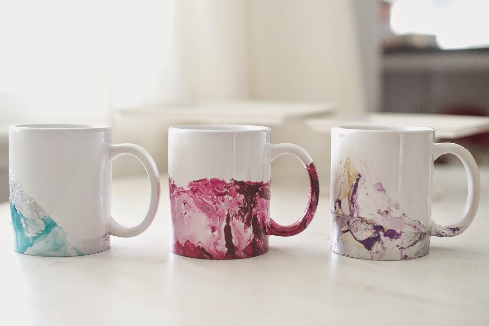 How To Paint A Coffee Mug With Acrylic Paint
