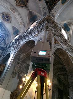 escáner, levantamiento, 3D, iglesia