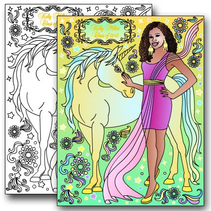 NEW* PRINCESS&UNICORN Custom coloring page
