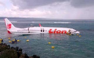 Pesawat Lion Air Jatuh Di Laut Bali, 101 Penumpang Selamat