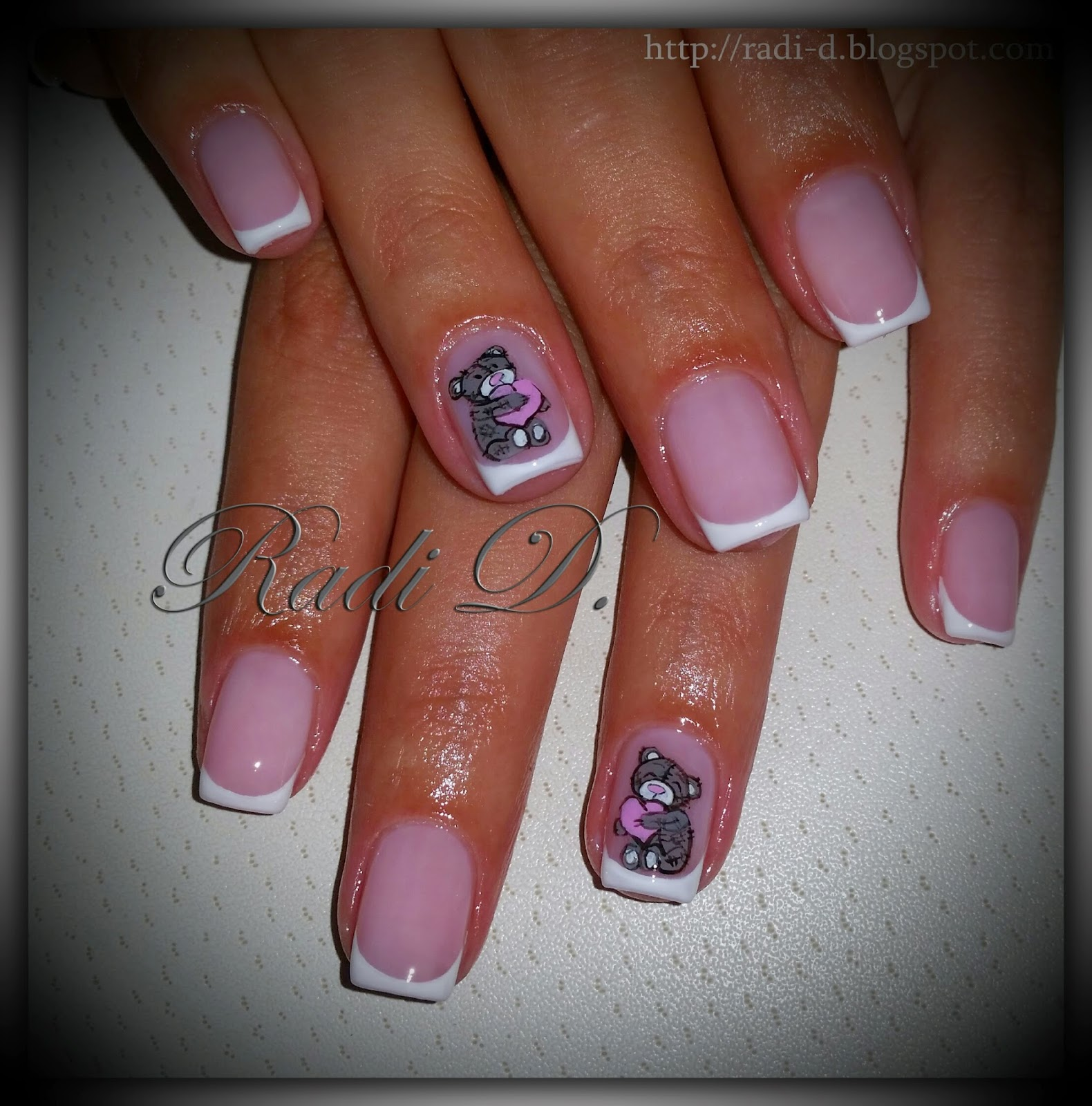 Its all about nails short french nails with me to you bears short french nails with me to you bears prinsesfo Images
