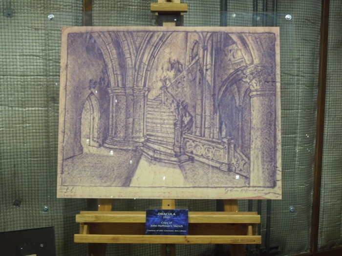 John Hoffman 1931 Dracula set concept sketch