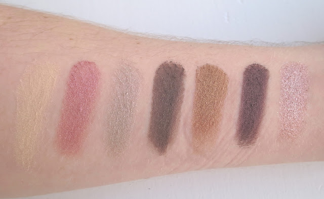 a picture of Anastasia Beverly Hills Self-Made Eyeshadow Palette; Buttery, Blossom, Blush, Witchy, Self-Made, Metallic Plum, Pink Champagne (swatch)