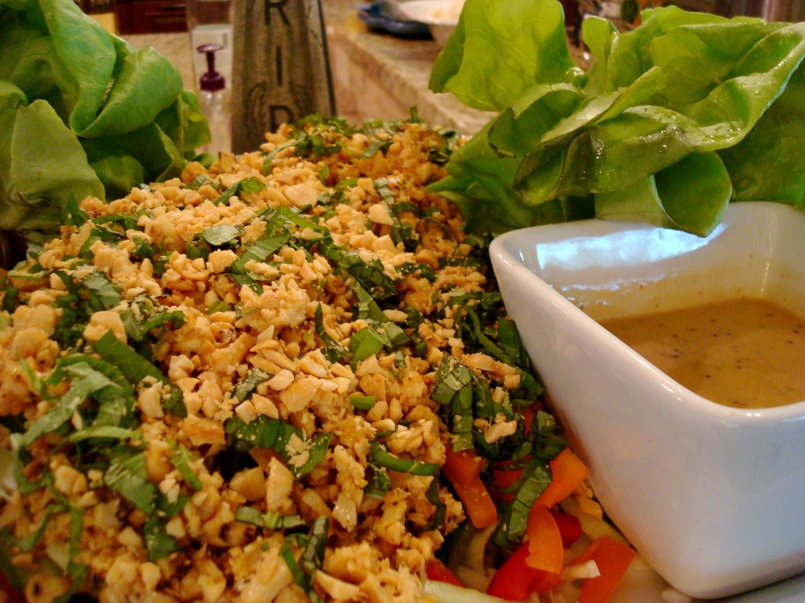 Easy Vegetarian Lettuce Wraps