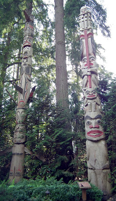 Centennial Pole (left) and Mosquito Pole (right) at Capilano Suspension Bridge