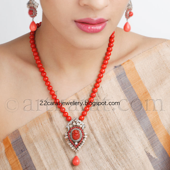 Coral Necklace Sets - Jewellery Designs