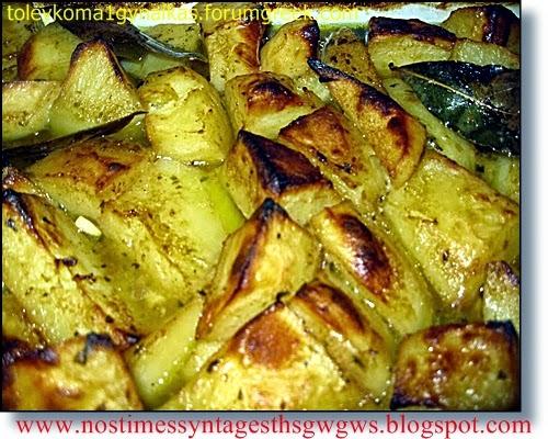 Spicy caramelized oven baked potatoes | deliciousrecipesofgogo