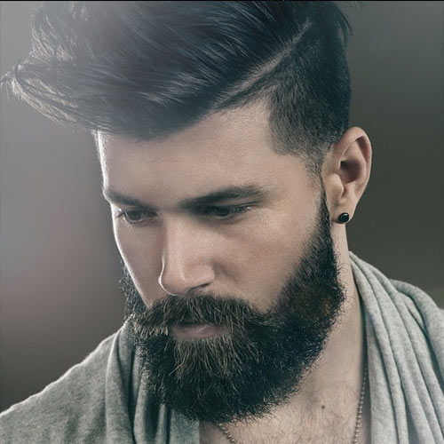 Wonderful Hipster Beard Style With Undercut
