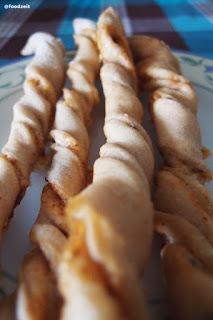 Fresh baked bread sticks fresh from the oven