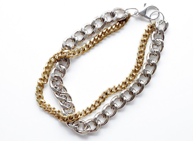crafty jewelry: diy mixed chain necklace
