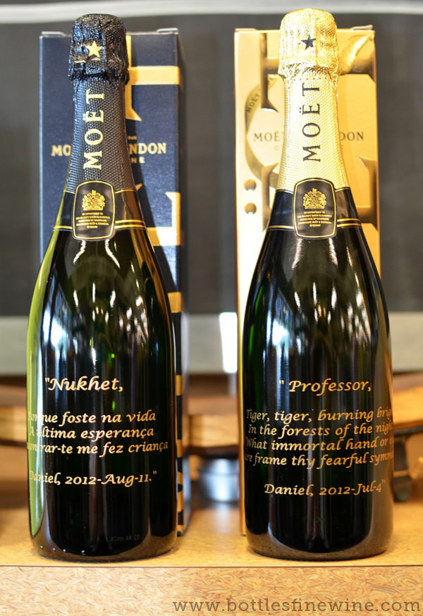 custom etch champagne bottles