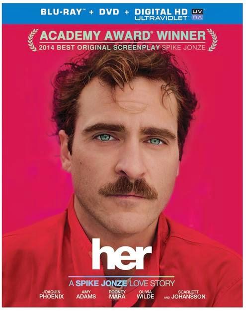 HER Blu-ray starring Joaquin Phoenix and Scarlett Johansson