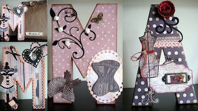 Las casitas de papel scrap con copic y letras decoradas maribel plaza - Letras decoradas scrap ...