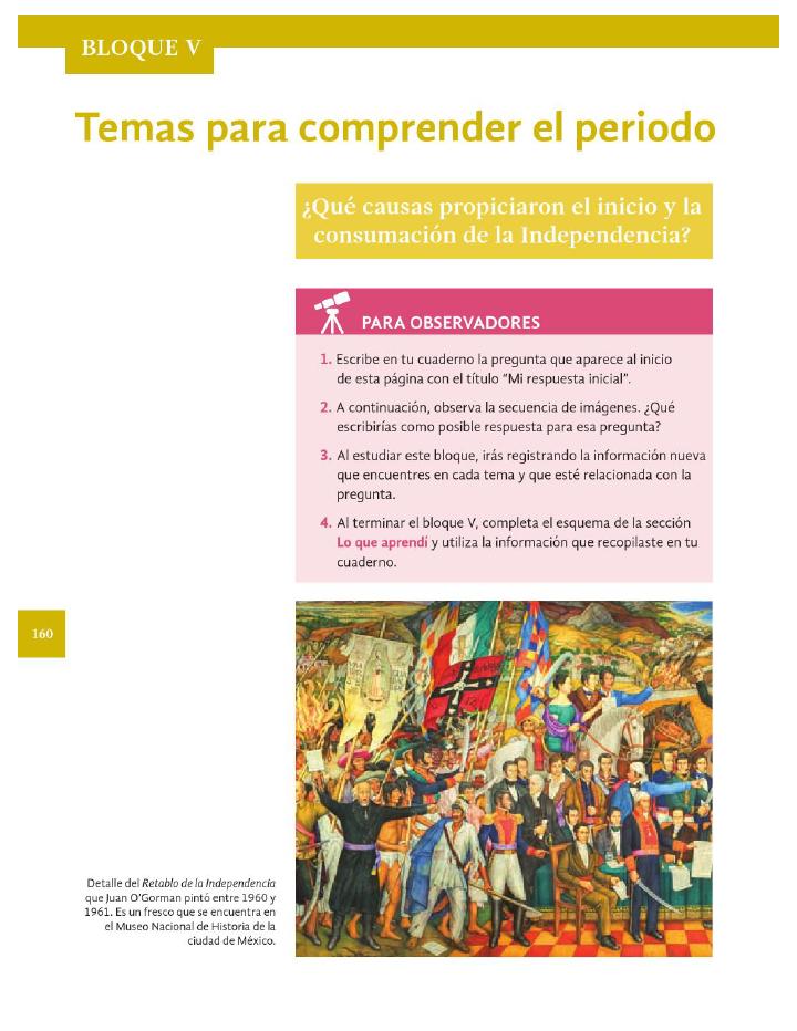 Temas para comprender el periodo - Historia 4to Bloque 5 2014-2015