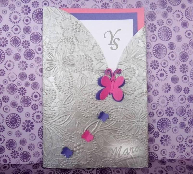 Mara Handmade Cards: INVITACIÓN QUINCE AÑOS DE MARIPOSAS