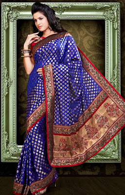 south Indian women's marriage silk saree