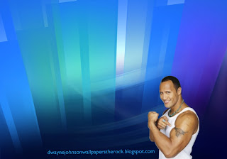 Dwayne Johnson Free Wallpapers The Rock shows Biceps and Tattoo Bull in Crystal Landscape Background