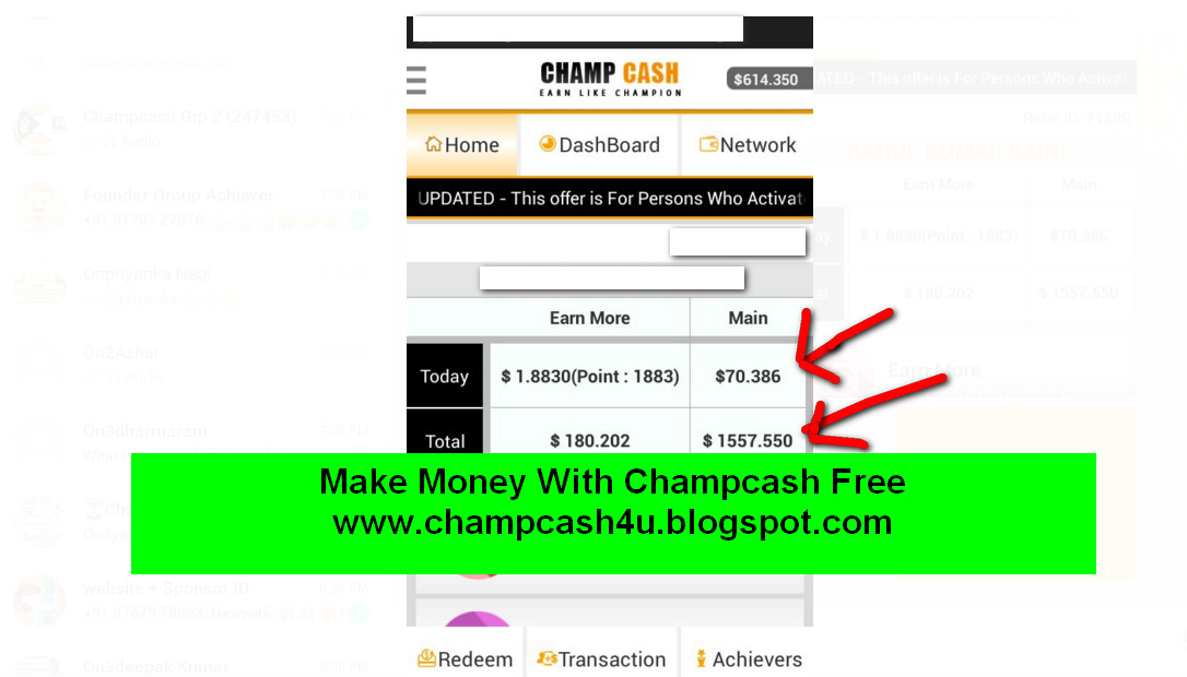 Champcash make money only in 10 minutes100 free joining always champcash member jabardast income kar rahe haiin kuch champcash members ke income proof yaha per share kar raha hu see screenshot altavistaventures Image collections