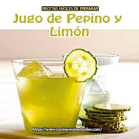 pepino, limón,hielo