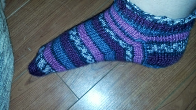 basic knit sock on foot