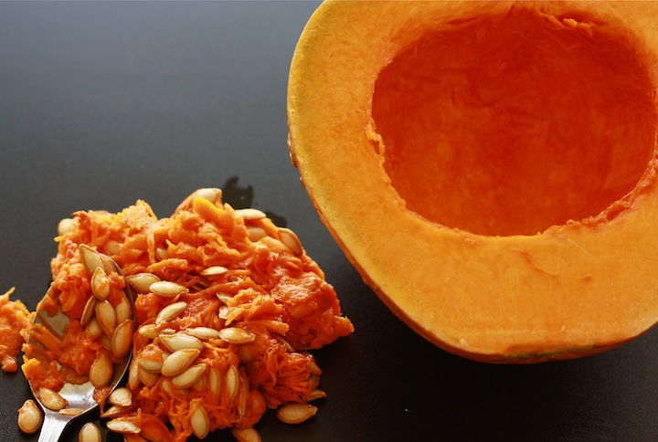 how to clean a squash pumpkin for cooking?