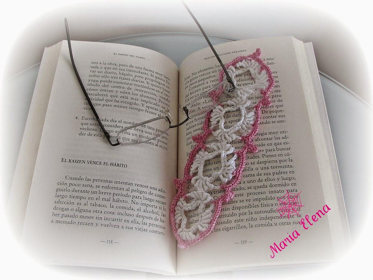 Señalador tejido al crochet o marcapágina para libro con tutorial