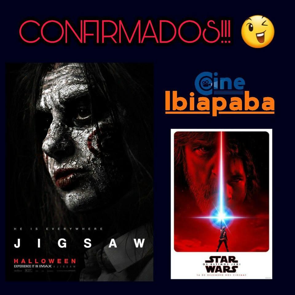 Quinta (14), estreia no Cibe Ibiapaba: Jogos Vorazes Jigsaw e Star Wars - Os Últimos Jedi.