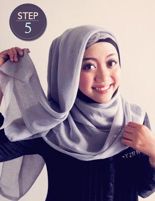 Cara pasang jilbab segi empat, cara menggunakan jilbab segi 4, cara memakai jilbab