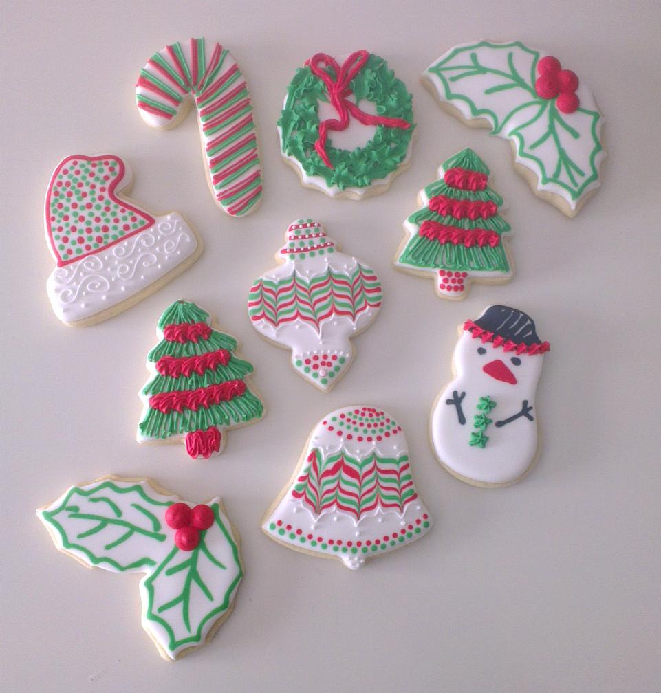 galletas decoradas con glasa real para navidad