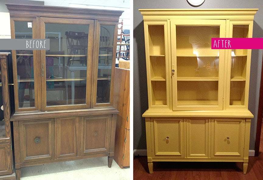 Charmant Iu0027m Excited To Share My First Ever China Cabinet Makeover! I Figured We  Could Use Some Sunny Yellow Right About Now, In The Midst Of Dreary Winter.