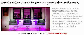 Purple Salon Decor to Inspire your Salon Makeover.