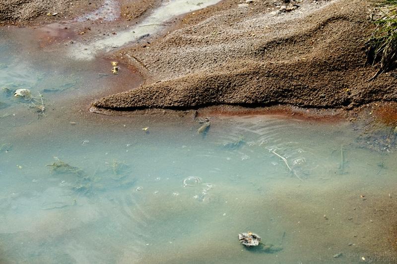 Il colore delle acque alla Cascata della Diosilla