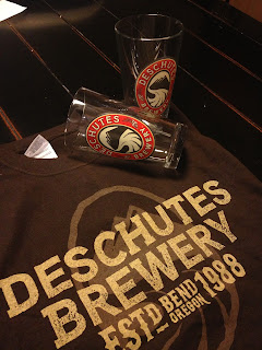 Deschutes Brewery T-shirt and Glasses