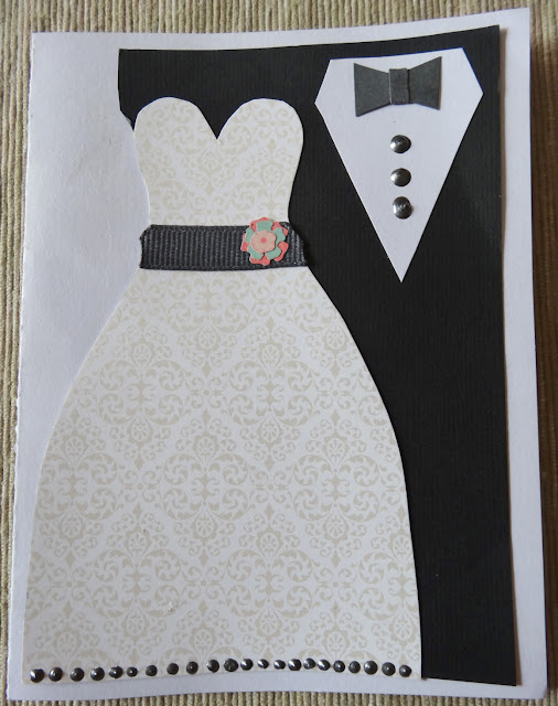 Homemade Wedding Card - All together