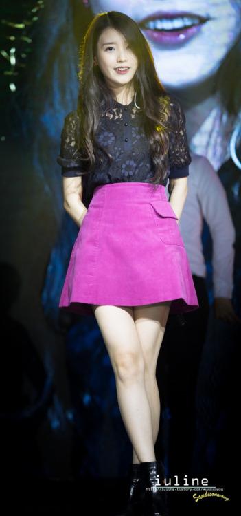Steal IU's Look: Floral Lace Top and Pink Skirt