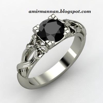 Diamond Black Ring Jewellery Collection 4 Fashion Jewellery