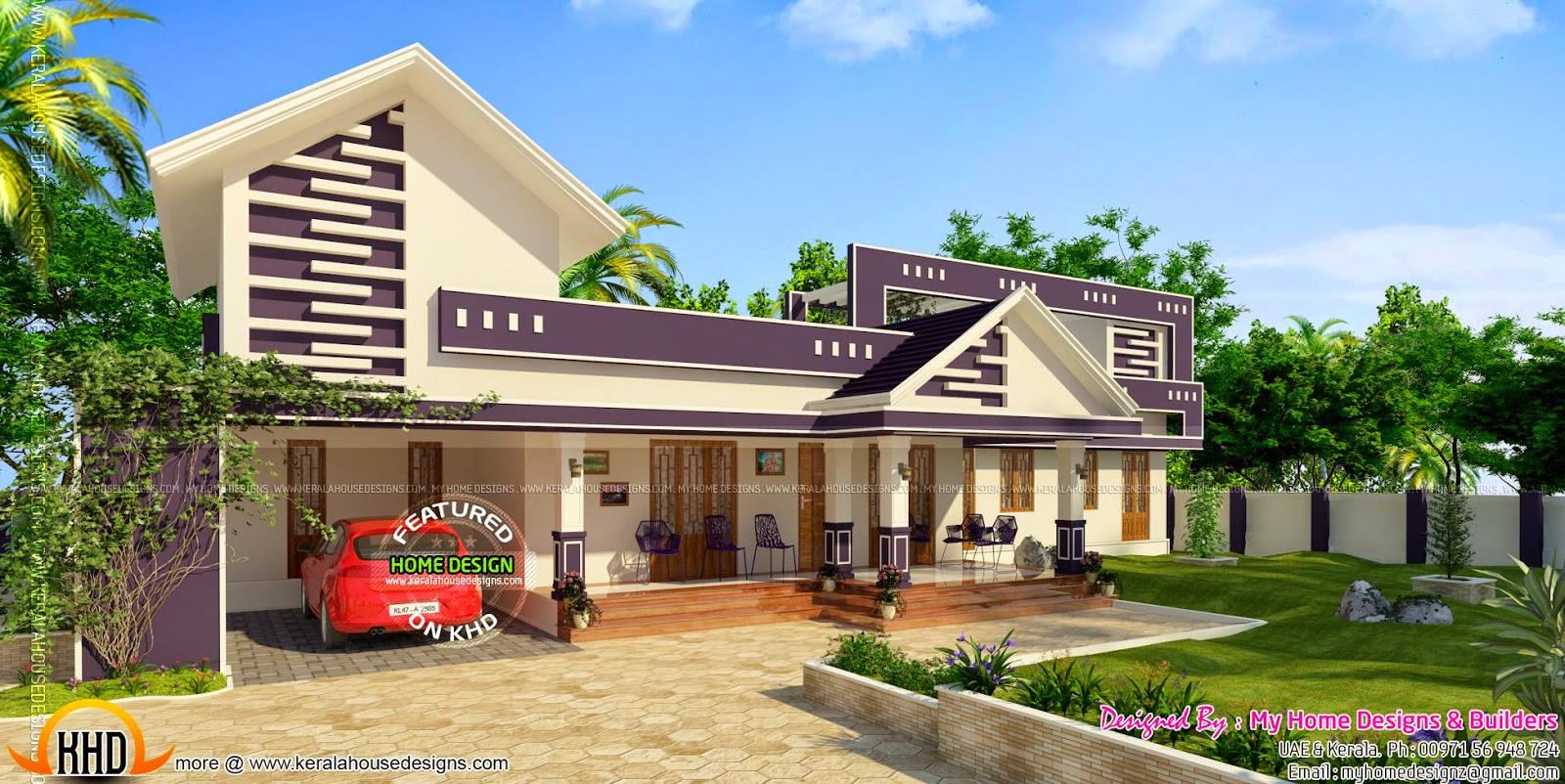 Beautiful one storied home Kerala home design and floor