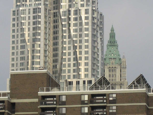 Gehry Woolworth 2 - From the Brooklyn Bridge.