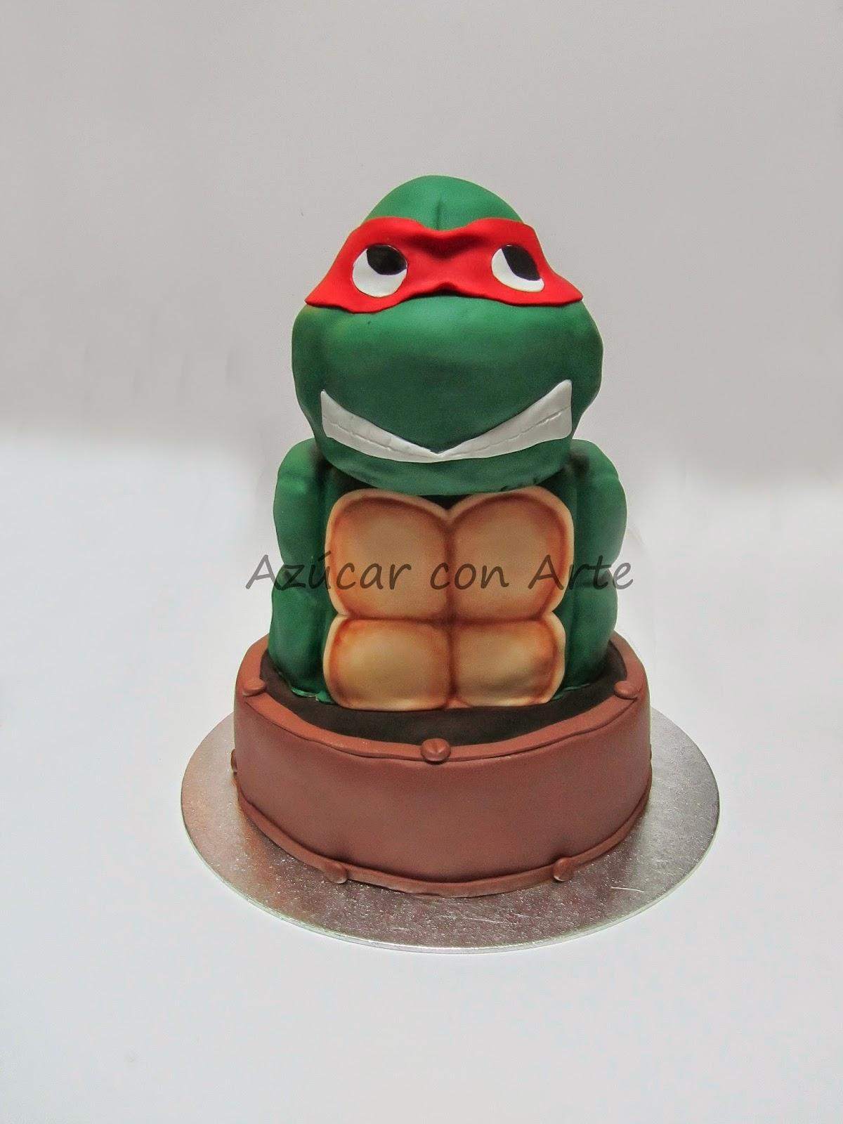 turtles cake, tortuga ninja, tarta tortuga ninja, tarta sin gluten, gluten free cake | azucar con arte