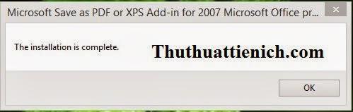 Tích hợp add-in chuyển đổi sang PDF vào Office